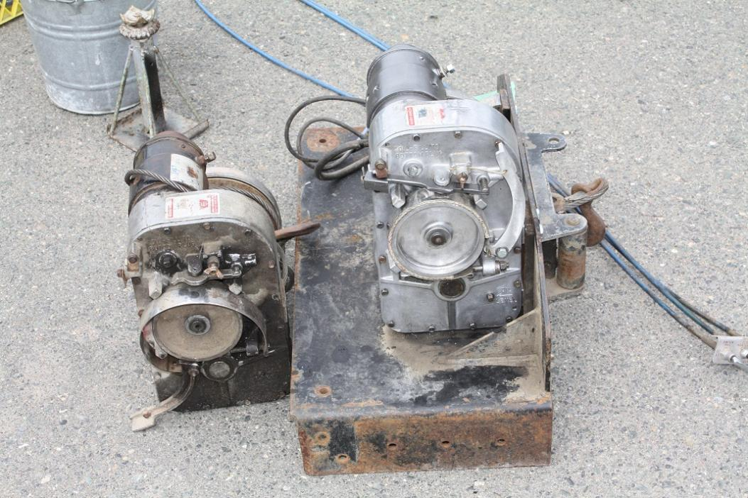 two warn winch for