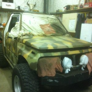 camo paint job almost done